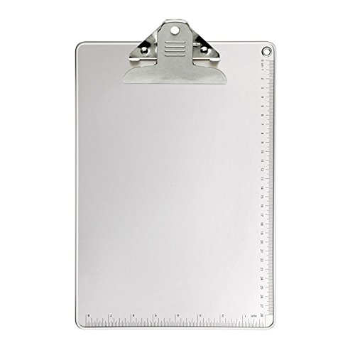 Clipboard, Kakbep Recycled Heavy Duty Aluminum Clipboard with Strong Butterfly Clip Double Side Non-Slip Design, 9'' x 12.5'' by Kakbep