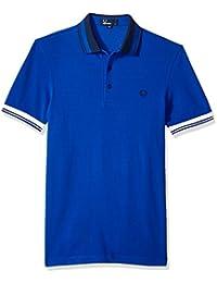Mens Contrast Collar Pique Shirt