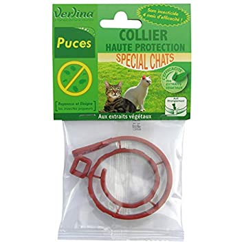 Verlina Collar de Gato Repelente de Insectos sin insecticidas contra garrapatas y pulgas, para Gato: Amazon.es: Productos para mascotas
