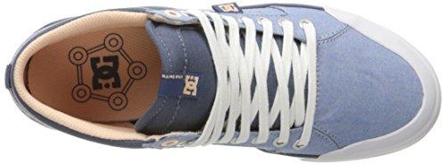 DC - Zapatillas de skateboarding para mujer Denim