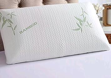 Iyan Linens Ltd Espuma de Poliuretano bambú Almohada Cabeza Cuello Apoyo Almohada ortopédica antialérgico & Antibacteriano