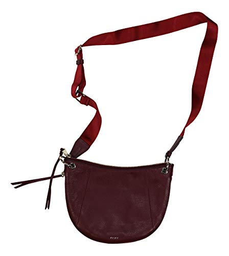 DKNY Thompson Genuine Leather Convertible Expandable Crossbody Purse (Oxblood)