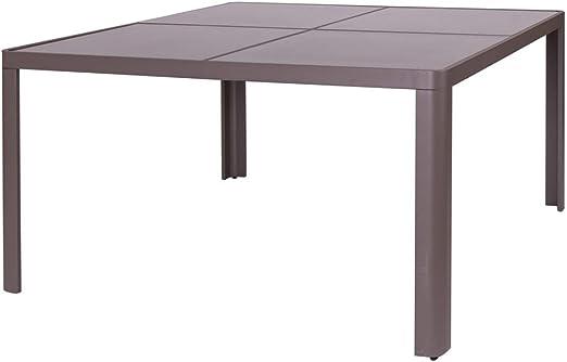 Mesa Comedor de Aluminio marrón para terraza y Exterior Garden - LOLAhome: Amazon.es: Jardín