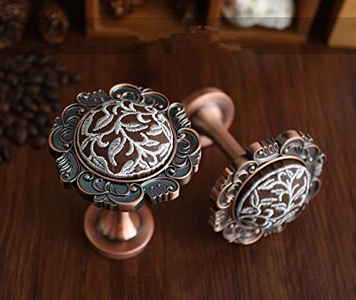 (Kasuki Embroidered Wall Hooks Decorative Curtain Tieback Hook Gold Silver Antique Copper Coat Hooks Coat Hangers French Rustic Shabby - (Color: Copper))