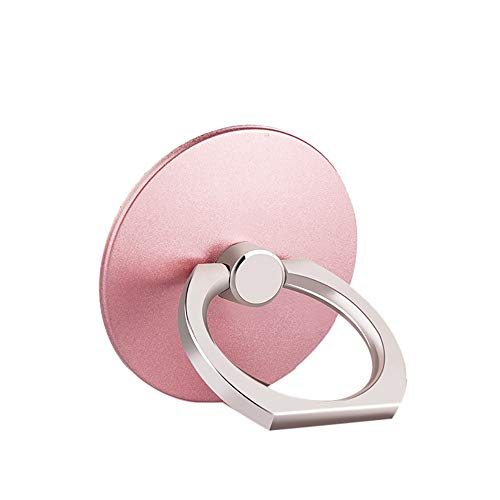 Ring Stand Holder, Creazy 1 Pcs Metal Ring Stand Universal Applied Mobile Phone Stand 360 Degree Rotate (Rose Gold)