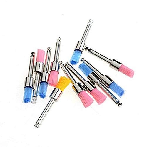 Hot 100pcs Color Nylon Latch Flat Polishing Polisher Prophy Brushes