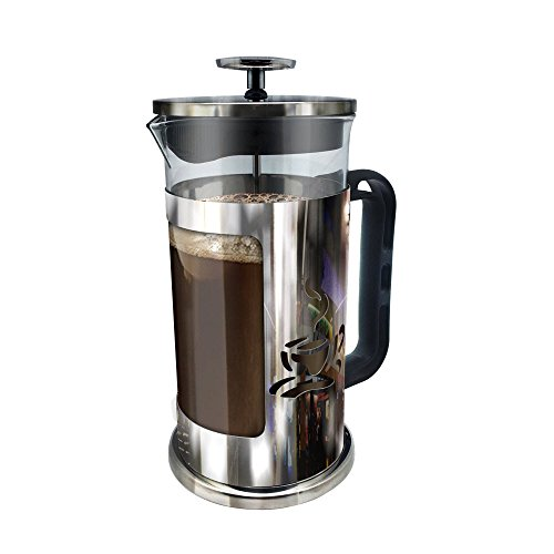 ultimate-kitchen-french-press-coffee-maker-1-liter-4-cups-chrome-finished-stainless-steel-loose-leaf