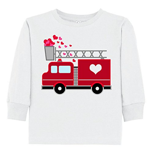 23e501a6b inktastic - Valentine's Day Red Firetruck with Toddler Long Sleeve T-Shirt  2873d