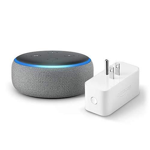 Echo Dot (3rd Gen) bundle with Amazon Smart Plug – Heather Gray