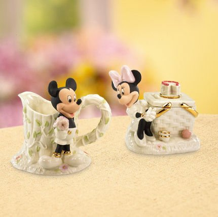 Walt Disney Show Case Mickey and Minnies Picnic Sugar and Creamer Set Figurine by Lenox Classics - Lenox Walt Disney Showcase