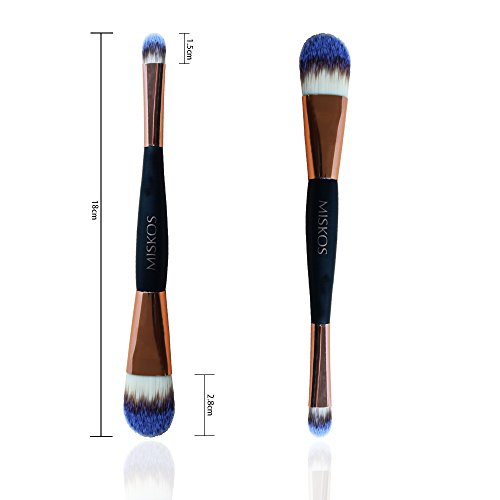 MISKOS Brush Kit Double Ended Head Soft For Eyeshadow Foundation Concealer 18cm Face Makeup Brush Set for Women Double Ended Eye