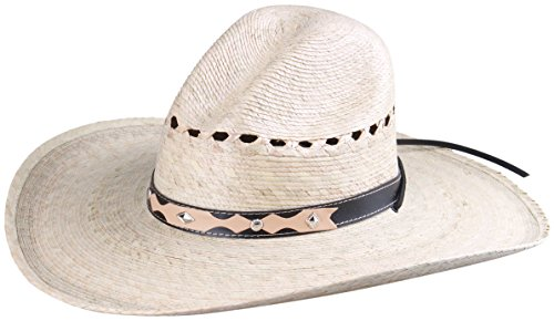 Enimay Western Outback Cowboy Hat Men's Women's Style Straw Felt Canvas Beige 4 One Size