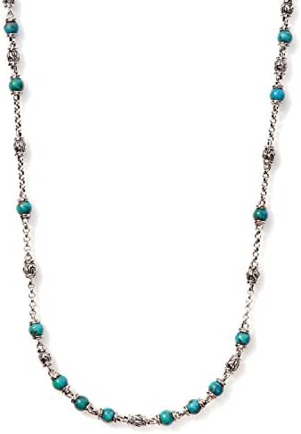 John Hardy Chain Collection Bead Necklace with Turquoise