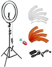 Neewer 18-inch Outer Dimmable SMD LED Ring Light Lighting Kit with 78.7 inches Light Stand, Phone Holder, Hot Shoe Adapter for Portrait YouTube TikTok Video Shooting (No Carrying Bag)