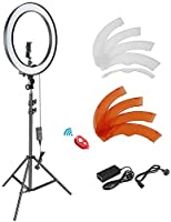 Neewer 18-inch Outer Dimmable SMD LED Ring Light Lighting Kit with 78.7 inches Light Stand, Phone Holder, Hot Shoe...