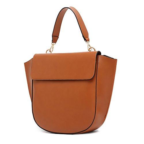 Marrone zainetto donne mano Messenger sacchetto a casuale spalla spalla a donne stile modo imbettuy borse di Tote borse a borse di borsa borsa borse nuovo retro q1RZS4