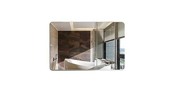 M-YN Espejo Pared de baño, Filete sin Marco Espejo de baño, Espejo del Maquillaje de Vestir Espejo, Espejo de baño, Espejo for afeitarse, Dormitorio rectángulo Decorativo Espejo Colgante: Amazon.es: Hogar