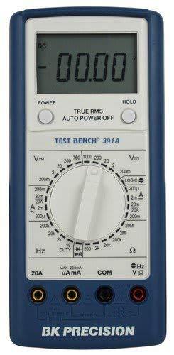 (BK Precision 391A Manual-Ranging, True RMS Digital Multimeter with Logic Test, 20 Amp, 750VAC, 1000VDC, 20 Megaohms, 200 kHz)