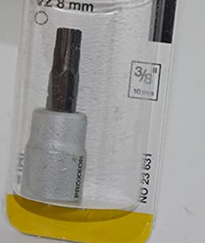 "50 mm Proxxon 23629 3//8/"" Vielzahn-Einsatz VZ 6"