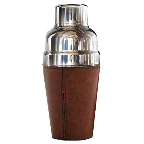 IWA Leather Cocktail Shaker Brown #25674