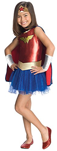 Bad Guy Superhero Costumes (Justice League Child's Wonder Woman Tutu Dress - Medium)