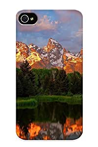 New Arrival Case Cover IxZtNWf253bIRJZ With Design For Iphone 4/4s- Sunset Over The Snowy Mountains Best Gift Choice For Lovers by lolosakes