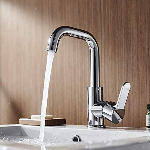 - CHUANG TIANG Sink Faucet, Bathroom Copper Hot and Cold Swing Wash Basin Faucet Bathroom Single Hole Wash Basin Faucet for Kitchen Bathroom (1 Set),B