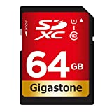 Gigastone 64GB Class 10 UHS-1 U1 Prime SD XC Memory Card Up to