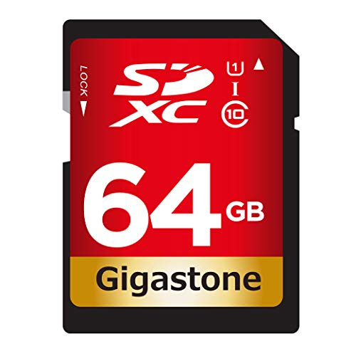 Gigastone 64GB SD Card UHS-I U1 Class 10 SDXC Memory Card Hi