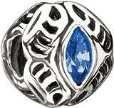 Authentic Chamilia RETIRED Swarovski September Sapphire Celebrations Bead Sterling Silver 2025-0669