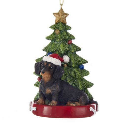 Kurt Adler DACHSUND WITH CHRISTMAS TREE ANE LIGHTS for sale  Delivered anywhere in USA