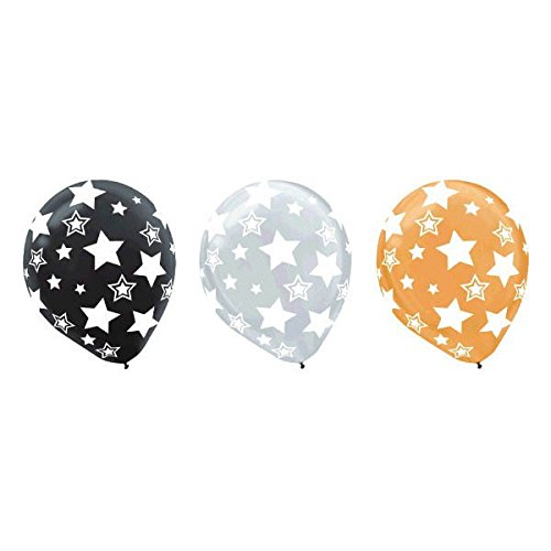 Stars Print Latex Balloons | Pack of 20 | Party Decor