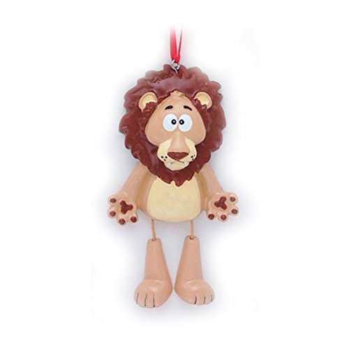 Personalized Forest Animals Christmas Tree Ornament 2019 - Cute Brown Lion Dangling Legs Zoo Collection Adventure Toy Costume King Guard Brave Simba Kion Gift Year - Free Customization]()