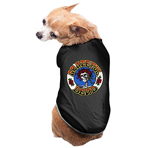 Black Grateful Dead Ship Of Fools Ollin Arageed Pet Supplies Dogs Coats Small Dog Costumes (Fool Costume)
