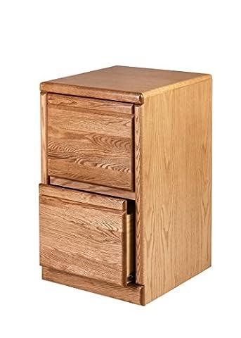 Forest Designs Bullnose Oak Two Drawer File Cabinet, 22