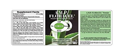 AMP Floracel POWDER, Aloe Vera Powder, Organic Aloe Supplement for Digestive or Auto-Immune Diseases or Disorders by Powder