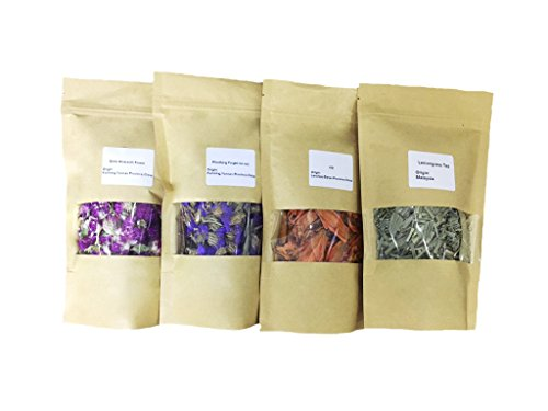 MinaJoy Four Packs Natural Healthy Dried Flowers for Flower Tea, Handmade soap, Sachet Making and Food Decoration (Dried Herbs Flowers)