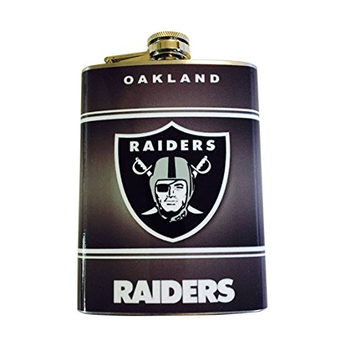 Oakland Flask Raiders (Oakland Classic Raiders Logo Stainless Steel 8oz Flask)