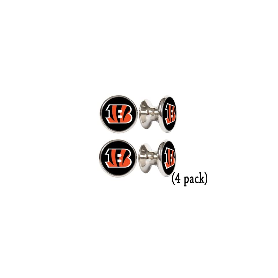 Cincinnati Bengals NFL Stainless Steel Cabinet Knobs / Drawer Pulls (4 pack)