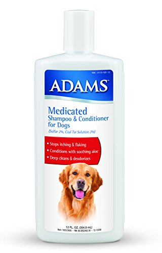 (Adams Medicated Shampoo & Conditioner for Dogs, 12oz)