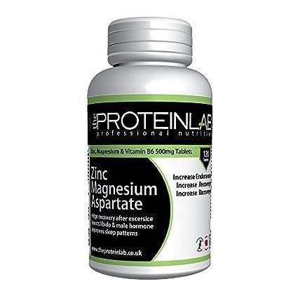 ZMA Fórmula 500mg Cinc Magnesio Vitamina B6 - Pastillas Desarrollo muscular tratamiento Testosterona Potenciador