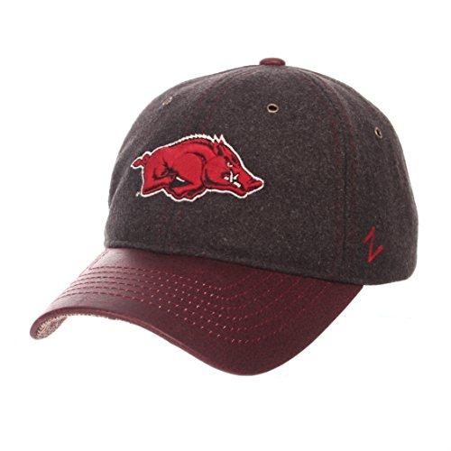 NCAA Arkansas Razorbacks Adult Men Alum Heritage Collection Hat, Adjustable, Heather Gray
