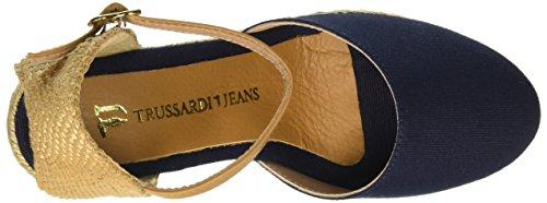 Jeans Cerrada Para Azul Blu Trussardi 48 Mujer Punta 79s06149 Sandalias O1vxnwndq6