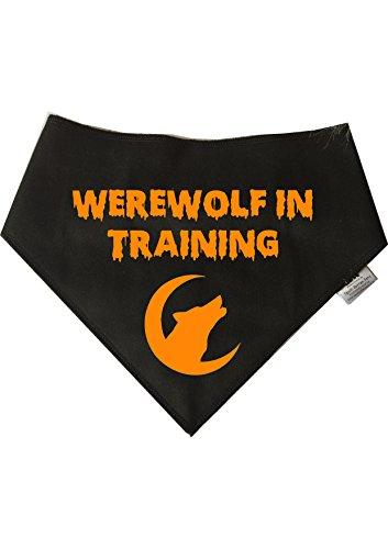 Spoilt Rotten Pets Halloween-Halstuch für Hunde, Aufschrift Werewolf In Training