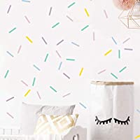 Pastel sprinkles wall decals, Mini bar stickers, Confetti...
