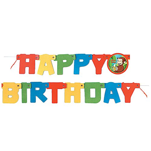 4ft Curious George Birthday Banner - George Curious Birthday Favors