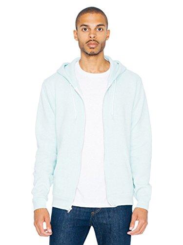(American Apparel Men Flex Fleece Zip Hoodie Size L Menthe )