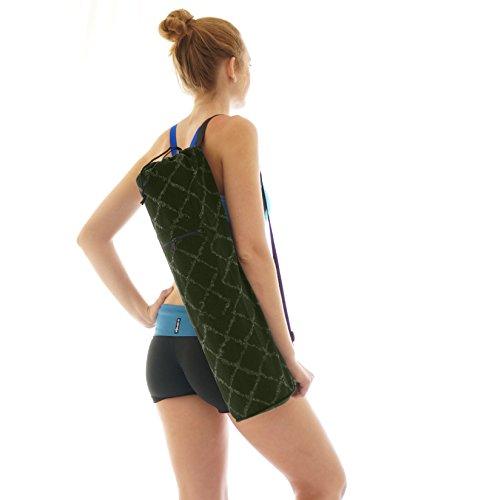 Large Yoga Mat Bag Large Zipper Front Pocket - Forest