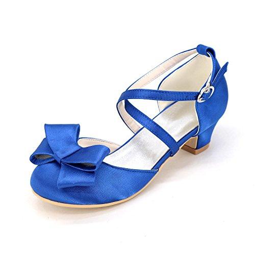 L@YC Zapatos Planos De Las Muchachas apartamento OtoñO De La Primavera CóModo Cuero artificial De La Boda Oficina al aire Libre Y Profesional Side & Evening Dress Blue
