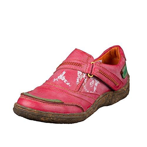 TMA EYES 1364 Klettschuh Gr.36-42 mit bequemen perforiertem Fußbett , Leder Rot